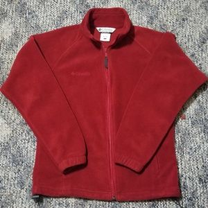 Columbia Womens Fleece Jacket Red Small Sweatshirt